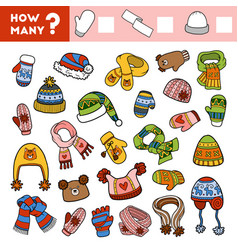 counting game for children count how many scarves vector image