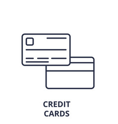 credit cards line icon concept credit cards vector image