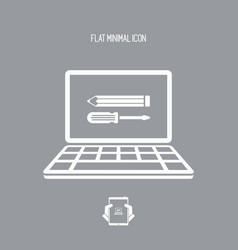 Custom assistance web services - icon vector