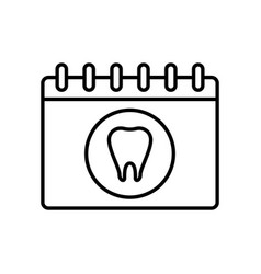 Dental appointment icon vector