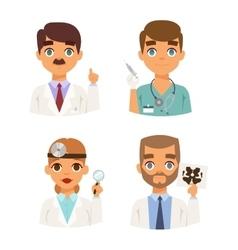 Doctors spetialists faces set vector image