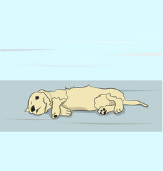 dog lies on nature vector image