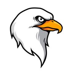 Eagle head mascot in cartoon style vector