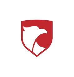 eagle shield icon design template isolated vector image
