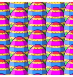 Egg striped pattern vector