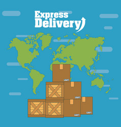 Express delivery concept vector