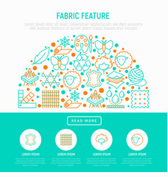 Fabric feature concept in half circle vector