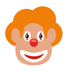 face clown april fool day vector image vector image