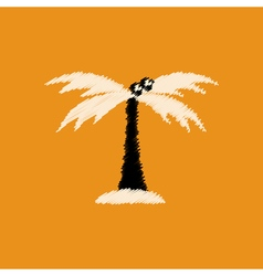 flat icon design collection palm tree silhouette vector image