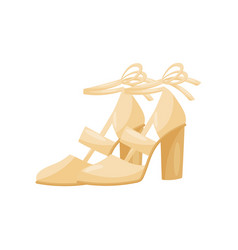 Flat icon of fashionable women sandals on vector