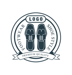 Footwear shoe style premium quality logo vector