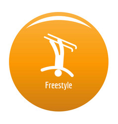 freestyle icon orange vector image
