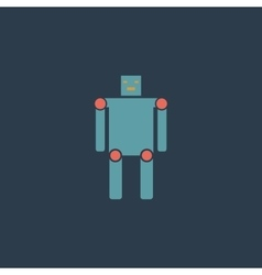 Funny robot flat icon vector image
