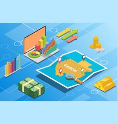 Gabon isometric financial economy condition vector
