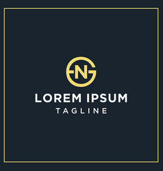 gn or ng circle logo vector image