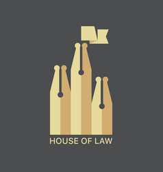House law logotype vector