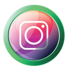 instagram logo bubble icon on a white background vector image