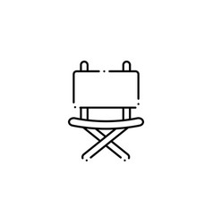 Isolated camping chair icon line design vector