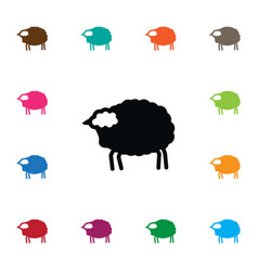 Isolated livestock icon lamb element can vector