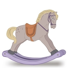 Isolated rocking horse on white vector
