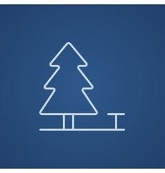 Landscape line icon vector image