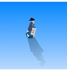 Loneliness on Olymp business concept vector