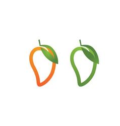 mango logo mango icon template vector image