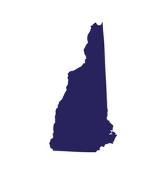 map of the us state of new hampshire vector image