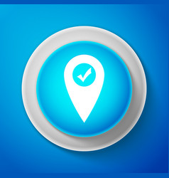 map pointer with check mark icon isolated vector image