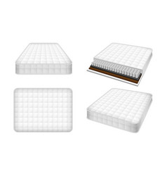 mattress icon set realistic style vector image