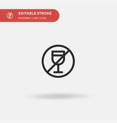 no drinking simple icon vector image