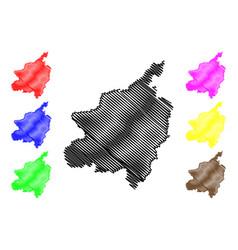 Phitsanulok province map vector
