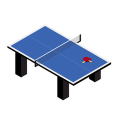 ping pong table and rackets isolated on white vector image