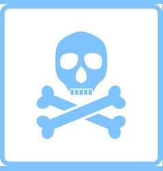 Poison sign icon vector