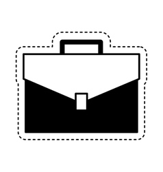 Portfolio briefcase isolated icon vector