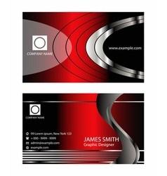 Premium Business Card Design Set vector image