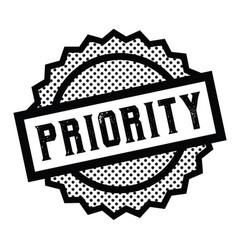 Priority stamp on white vector
