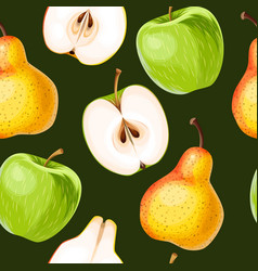 seamless apple and pear vector image