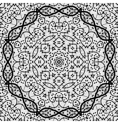 Seamless black outlined mandala vector image