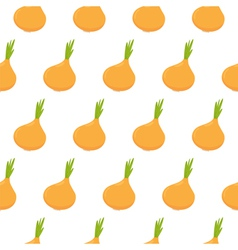 Seamless pattern with onion vector image