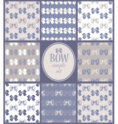 siimple set of seamless bow backgrounds vector image