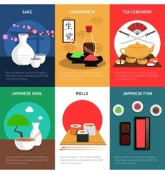 Sushi Mini Poster Set vector