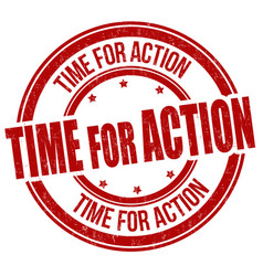 Time for action grunge rubber stamp vector