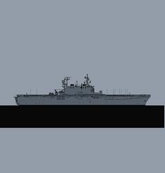 us navy tarawa class amphibious assault ship vector image