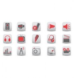 video and audio icons vector image