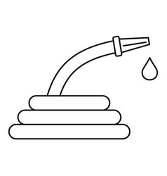 water hose icon outline style vector image