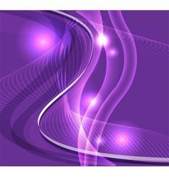 Wave line burst purple background vector