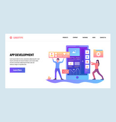 Web site gradient design template coding vector