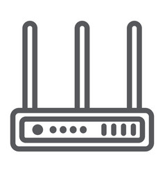 wifi router line icon network and connection vector image