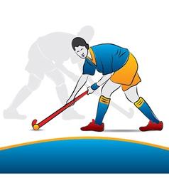 Women hockey player vector